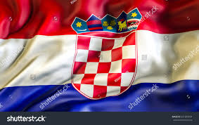 Printable Flags Croatia Flag 3d Waving Flag Design Stock Illustration 631599704