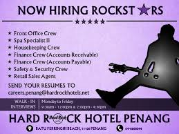 Gyms Hiring Front Desk Hard Rock Hotel Penang Linkedin