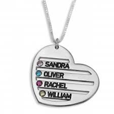 Kids Names Necklace Silver English Name Necklaces