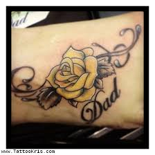 5 yellow rose tattoos on forearm