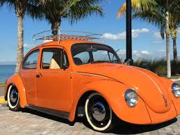 Old Beetle Interior 1974 Vw Beetle Bug Orange With New Peanut Butter Interior Runs