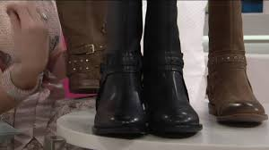 motorcycle ankle boots nine west leather motorcycle boots luciana on qvc youtube