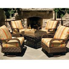 Home Depot Outdoor Furniture Sale by Patio Conversation Set With Fire Pit Table Patio Furniture