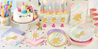 sparkling unicorn party supplies unicorn birthday party party city
