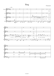 sing pentatonix sheet for vocal and choral musescore