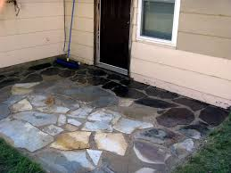 how to install or lay flagstone pavers building a flagstone