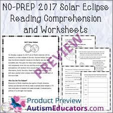 prep 2017 solar eclipse reading comprehension and worksheets