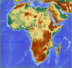 Blank African Map by Physical Map Of Africa