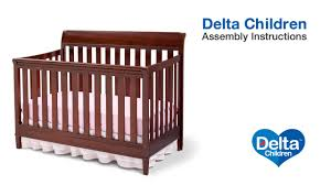 Carter S Convertible Crib by Delta Children Haven 4 In 1 Crib Assembly Video Youtube