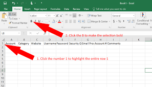 How To An Excel Template How To Use Excel As A Password Keeper Free Template German Pearls