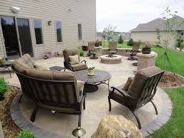 Patio With Firepit Paver Patio U0026 Fire Pit
