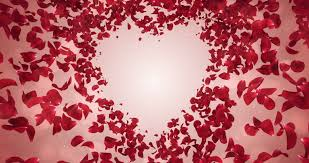 wedding anniversary backdrop flying flower petals lovely heart placeholder backdrop