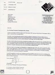 Formal Legal Letter by Ray Fox Nuclear Nightmare