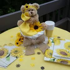 Sunflower Centerpiece Sunflower Baby Shower Sunflower Themed Baby Shower Burlap Baby