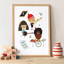 poster chambre bébé poster chambre enfant musicien makii