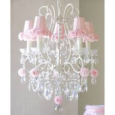 Chandelier Pink 5 Light Chandelier With Pink Shades