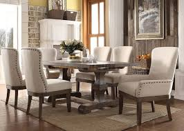landon 60740a dining table in salvage brown by acme w options