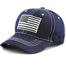 American Flag Visor Unisex Usa Flag Contrast Stitching Baseball Cap