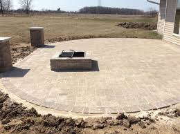 Patio With Firepit Patios Fire Pits Walkways Lang Landscape Llc Wisconsin