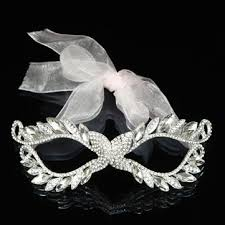 white masquerade masks for women european white ribbon rhinestone women masquerade mask at banggood