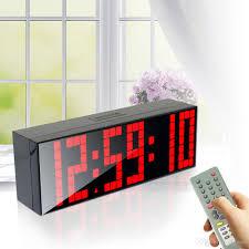 bedroom spy cams large digital jumbo led alarm clock remote control countdown table