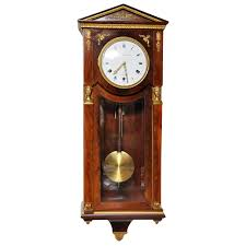 french mahogany empire style westminster chime wall clock for sale