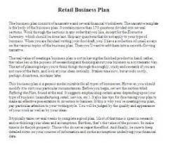 retail business plan template doc cv resume in usa