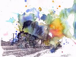 pin by hand wash on spring 18 pinterest train art watercolor