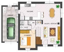 plan maison une chambre plan de maison 1 chambre cuisine naturelle