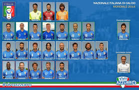 Italy National Flag Flagwigs Italy National Football Team 23 Squad To Brazil World