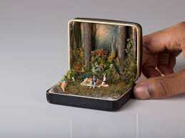 jewellery box rings images Vintage ring boxes turned into detailed historical dioramas by jpg