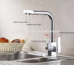 kitchen faucet outlet purifier water tap kitchen faucet with 2 outlet square