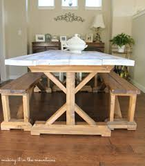Dining Tables  How To Whitewash Dark Wood Furniture White - Distressed kitchen table