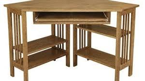 Small Wood Corner Desk Solid Wood Corner Desk Small Oak Computer With