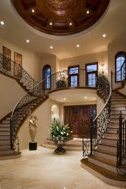 twin staircase design is a classic that never fails in the grand mediterranean villa jpg