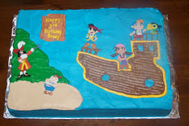 Neverland Map Jake And The Neverland Pirates Treasure Map Cake