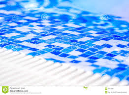 Blue Border Tiles Border Of Indoor Pool With Mosaic Blue And White Tiles Stock Photo