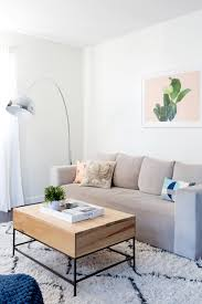 West Elm Tripod Table A Laid Back Los Angeles Apartment Front Main