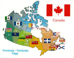 Canada Territories Map by Canada U0027s Provinces And Territories Flags Postcard U2013 Postal Happy