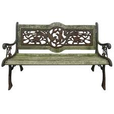 composite benches amazing wrought iron outdoor bench iron outdoor patio bench