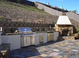 Design For Outdoor Slate Tile Ideas Kitchen Splendid Outdoor Summer Kitchen With Slate Tile