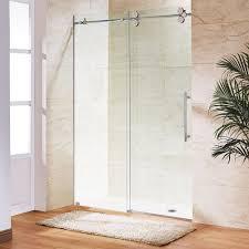 sliding glass shower door parts vigo 60 in x 74 in frameless bypass shower door in stainless