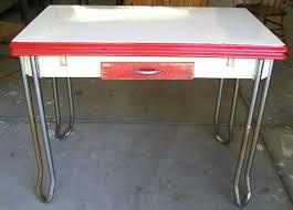 vintage enamel kitchen table antique metal kitchen table nhmrc2017 com