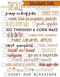fall list 19 ways to celebrate autumn fall