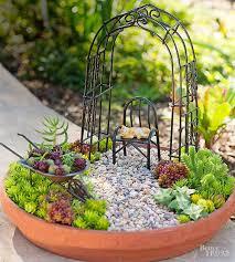 adorable tabletop mini succulent garden