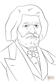 frederick douglass coloring page free printable coloring pages