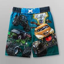 grave digger monster truck fabric monster jams monster jam toddler boy u0027s board shorts