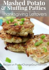 mashed potato patties thanksgiving leftovers recipe