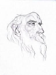 rabindranath tagore pencil sketch august 2012 sathish39s gallery