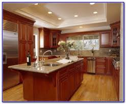 kitchen paint colors with cherry wood cabinets painting home